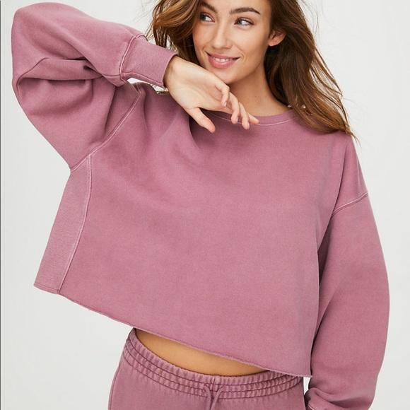 Aritzia Tna CozyAF Boyfriend Cropped Sweater